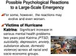 possible psychological reactions to a large scale emergency2