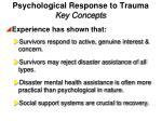 psychological response to trauma key concepts1