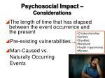 psychosocial impact considerations1