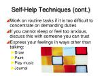 self help techniques cont