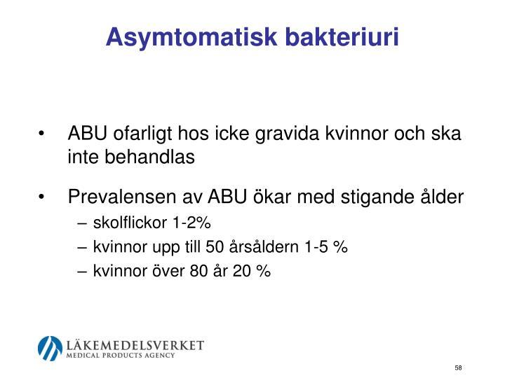 Asymtomatisk bakteriuri