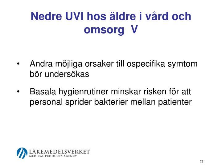 Nedre UVI hos äldre i vård och omsorg  V