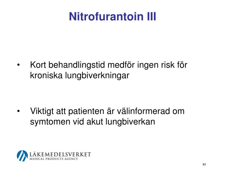 Nitrofurantoin III