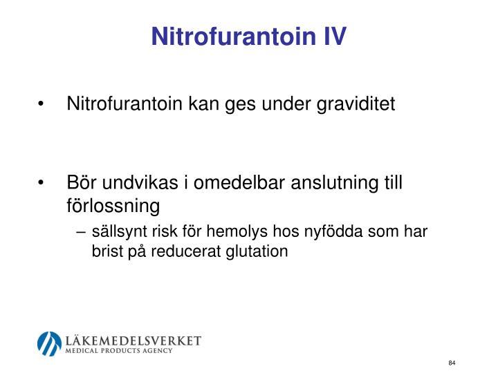 Nitrofurantoin IV