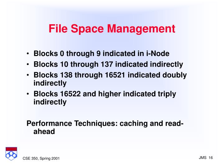 File Space Management
