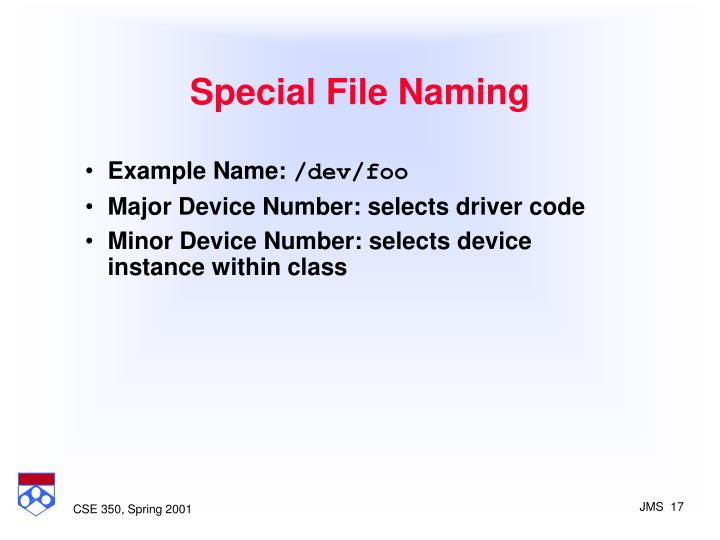 Special File Naming