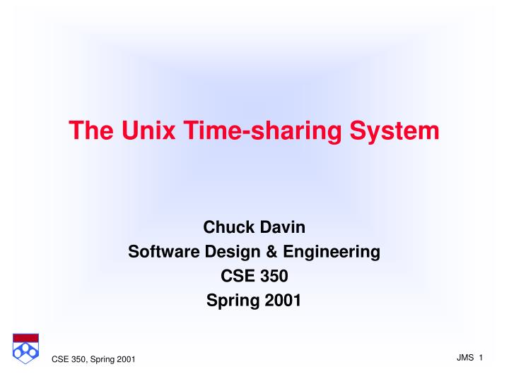 The unix time sharing system