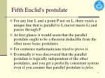 fifth euclid s postulate