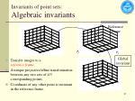 invariants of point sets algebraic invariants