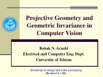 projective geometry and geometric invariance in computer vision