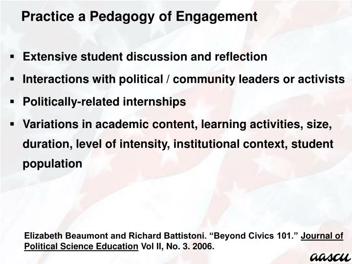 Extensive student discussion and reflection