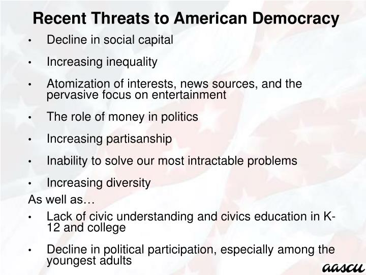 Recent Threats to American Democracy