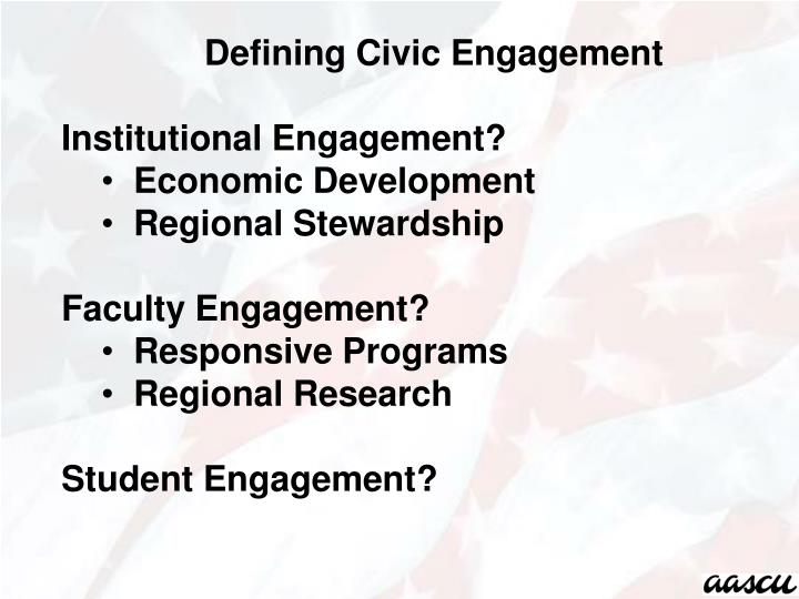 Defining Civic Engagement