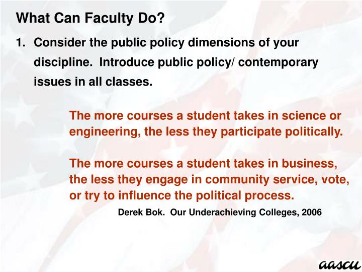 What Can Faculty Do?