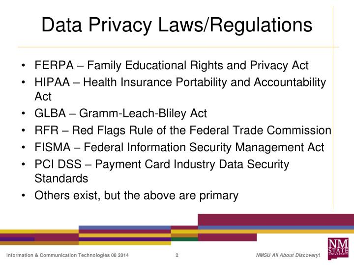 data privacy laws regulations n.
