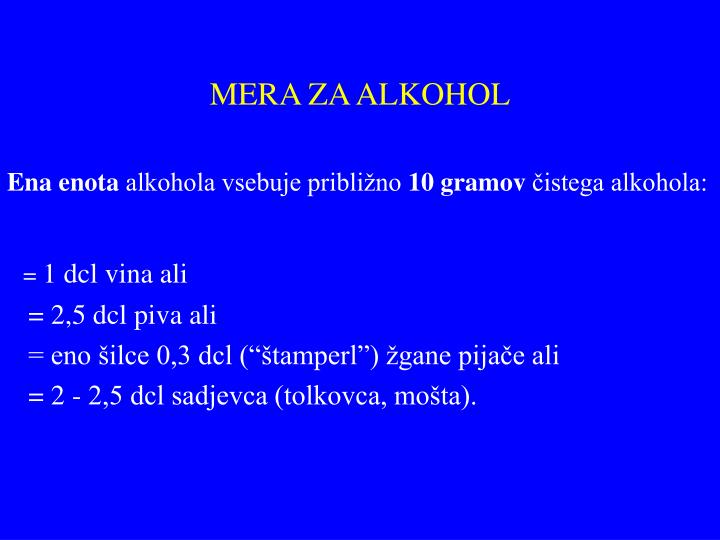 MERA ZA ALKOHOL