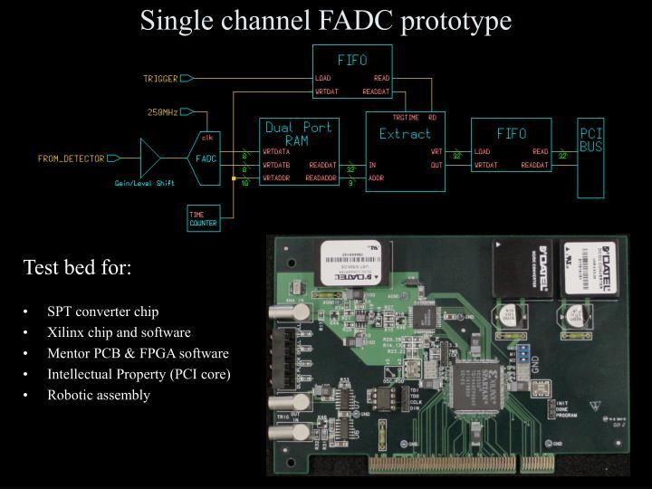 Single channel fadc prototype
