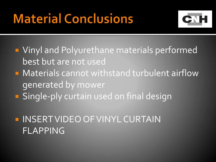 Material Conclusions