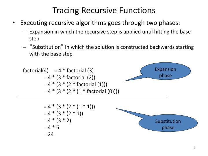 Tracing Recursive Functions