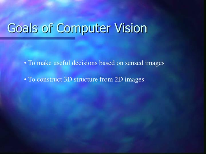 goals of computer vision n.