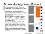 accelerator alignment concept