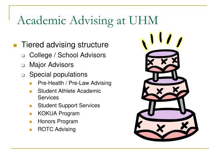 Academic advising at uhm