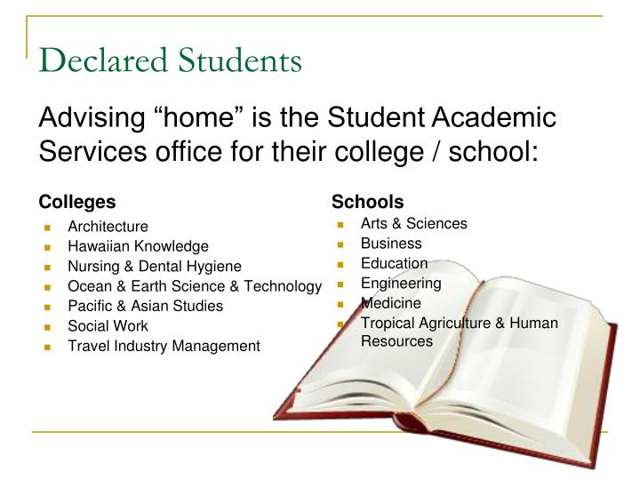 Declared students