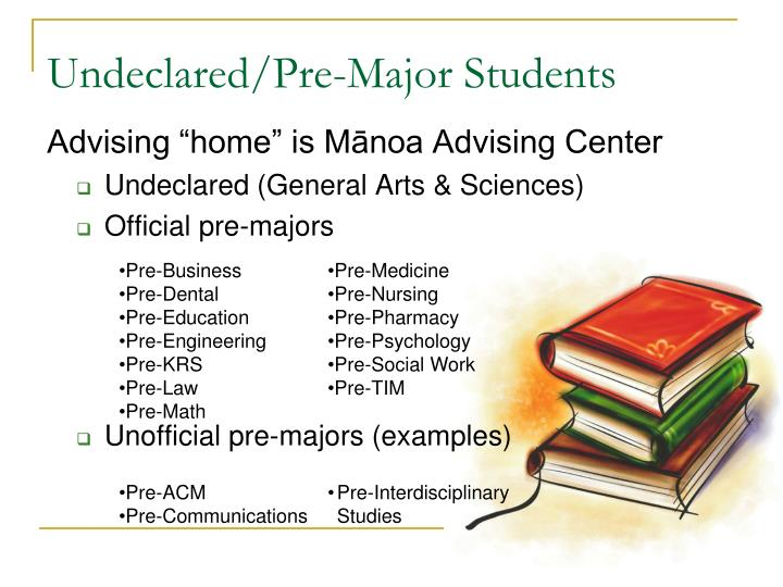 Undeclared/Pre-Major Students
