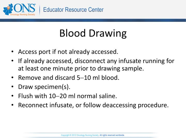 How To Draw Blood Through A Port