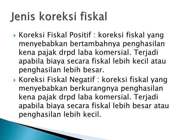 Ppt Penyusunan Laporan Keuangan Fiskal Koreksi Fiskal Powerpoint