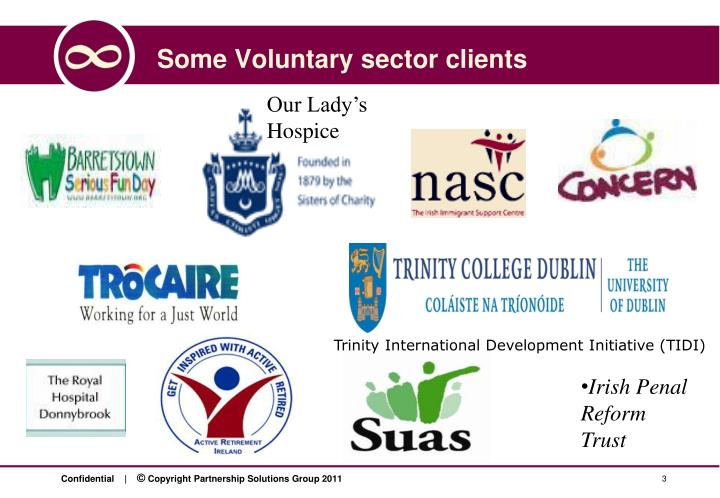 Some voluntary sector clients