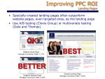 improving ppc roi landing pages1