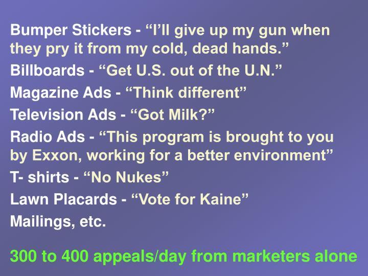 Bumper Stickers -