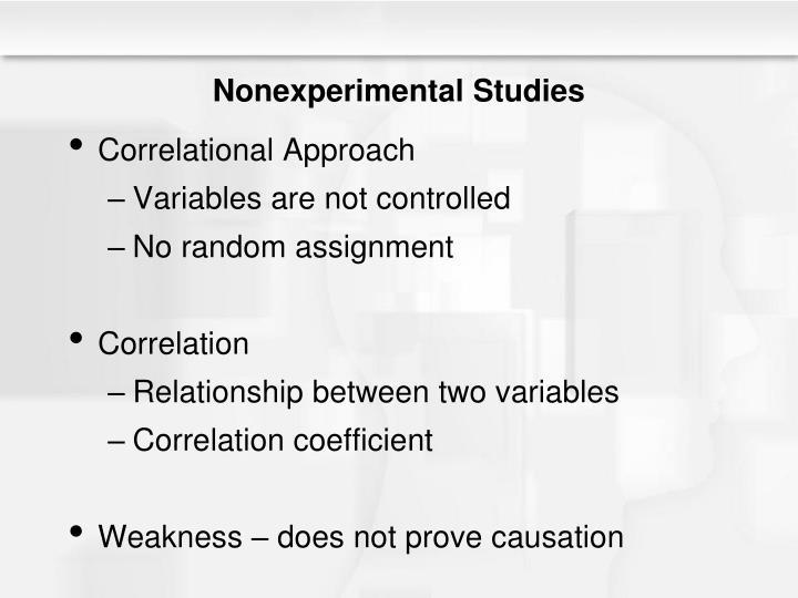 Nonexperimental Studies
