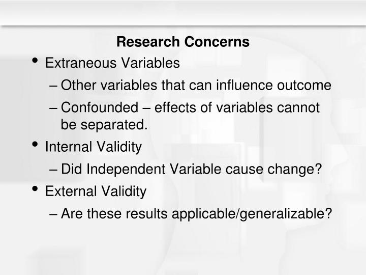 Research Concerns