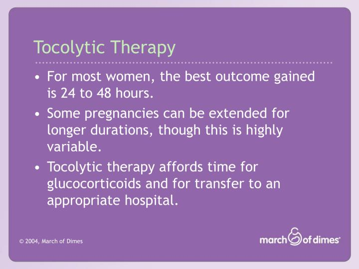 Tocolytic Therapy