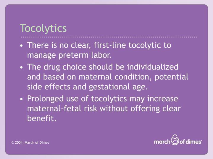 Tocolytics