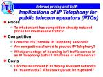 implications of ip telephony for public telecom operators ptos