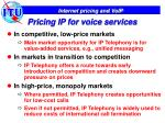 pricing ip for voice services