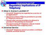 regulatory implications of ip telephony