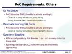 poc requirements others