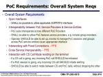 poc requirements overall system reqs