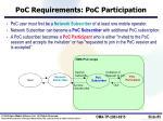 poc requirements poc participation