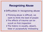 recognizing abuse