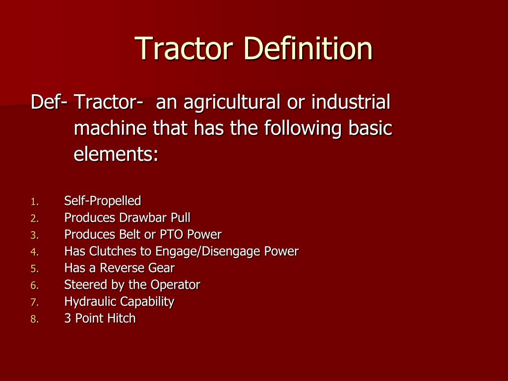 PPT - Tractor Safety, Operation, and Maintenance PowerPoint