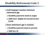 disability retirements code 3