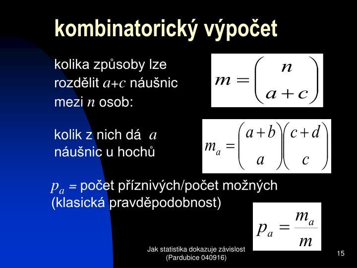 kombinatorický výpočet