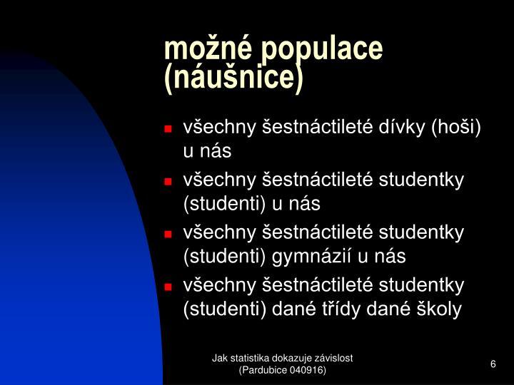 možné populace (náušnice)