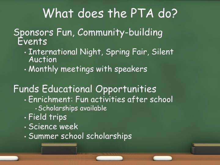 What does the PTA do?