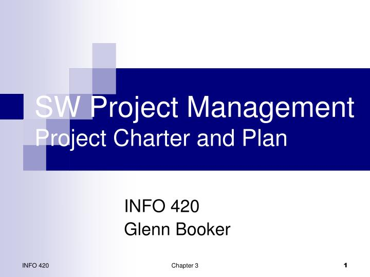 sw project management project charter and plan n.